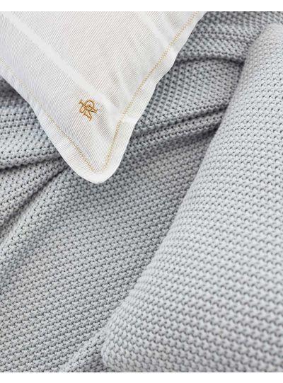 Nordic knit díszpárna, ezüst