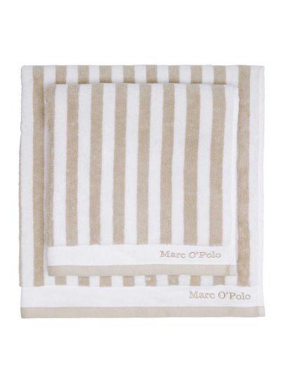 Classic Stripe törölköző, zabkása/fehér