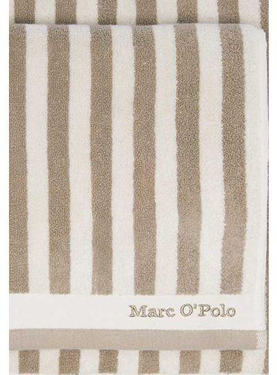 Classic Stripe törölköző, bézs/ekrü