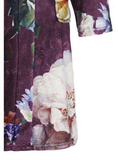 Fleur fürdőköpeny, burgundi
