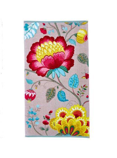 Floral Fantasy törölköző, khaki