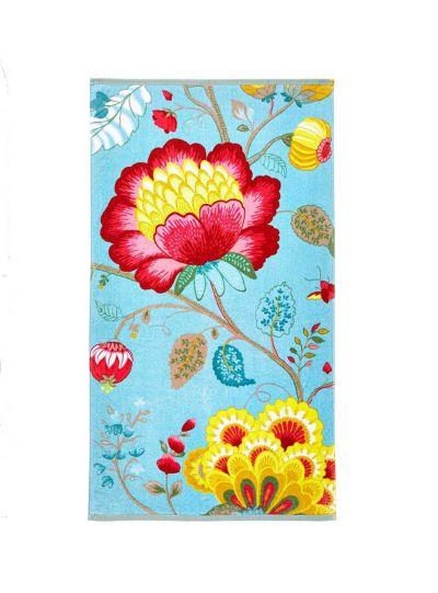 Floral Fantasy törölköző, kék