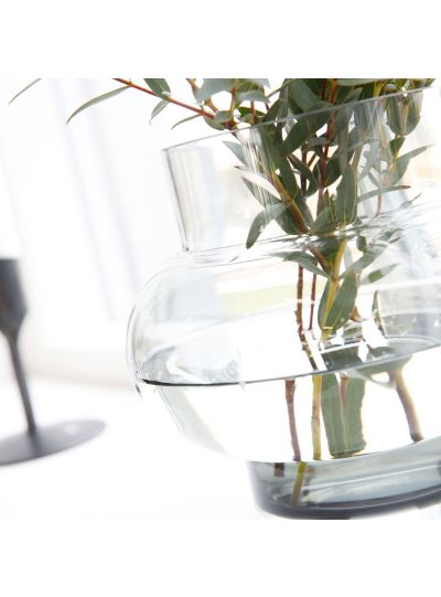 Váza, Forms Low, Szürke