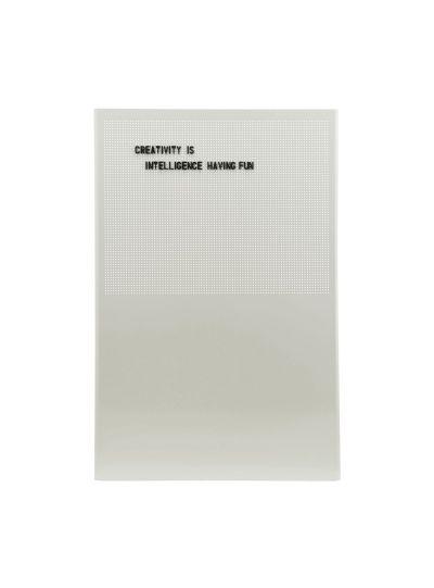 Grid, üzenőtábla, szürke, 424 db betű/szám/jel