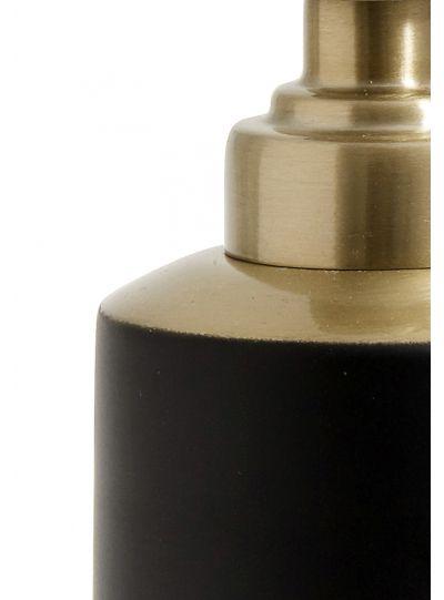 szappanadagoló, matt fekete/arany