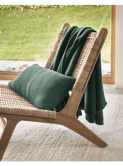 Nordic knit Díszpárna, Zöld