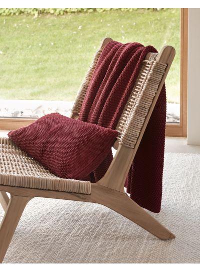 Nordic knit Díszpárna, piros