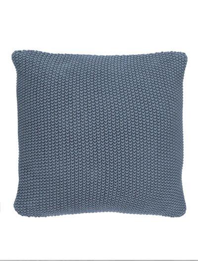 Nordic knit díszpárna, füst kék