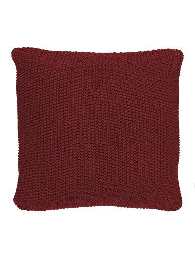 Nordic knit Négyzetalakú díszpárna, piros