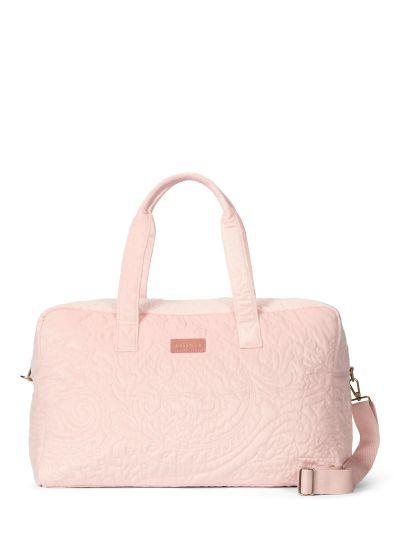 Pebbles Velvet Hétvégi táska, Hajnalrózsaszín