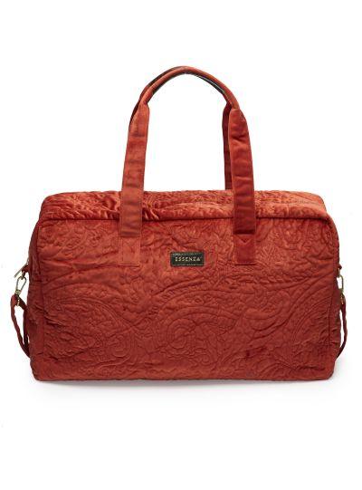 Pebbles Velvet Hétvégi táska, chillivörös