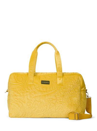 Pebbles Velvet Hétvégi táska, mustársárga