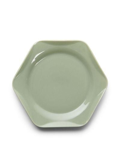 Sculpture Süteményes tányér, szurkeszold