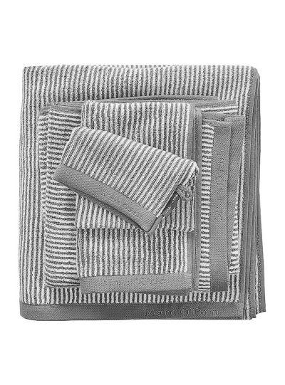 Timeless Tone Stripe törölköző, szürke/fehér